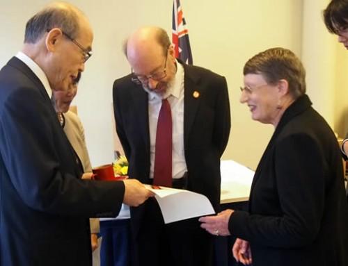 Award to AJS ACT's Michael Hodgkin